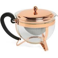 chambord classic copper tea pot
