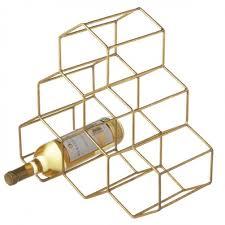 Gold Honeycomb Wine Rack